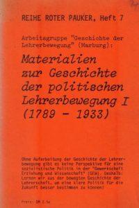 hrsg-dietfrid-krause-vilmarreihe-roter-pauker-heft-7-arbeitsgruppe-geschichte-der-lehrerbewegung